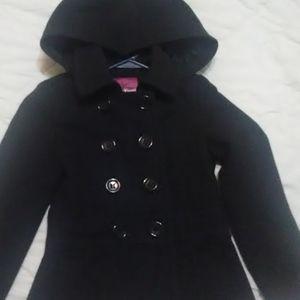 Girls black dress coat.